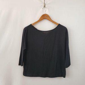 Ann Taylor Knit Blouse Sz SP Scoop Neck 3/4 Sleeve